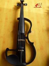 N4 Hohe qualität weiße farbe elektrische violine 4/4 violine handwerk violino Musikinstrumente violine Brasilien Holz bogen