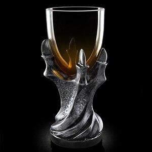Caneca gótica do dragon garra jogo of thrones, vinho vodka, xícara de vidro, urso, uísque, copos e canecas suprimentos