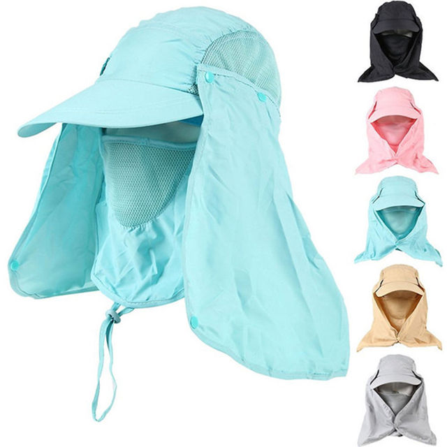 Outdoor Hiking Fishing Hat Sport Sun Protection Neck Face Flap Cap Wide  Brim Hot dc959e5f72f2