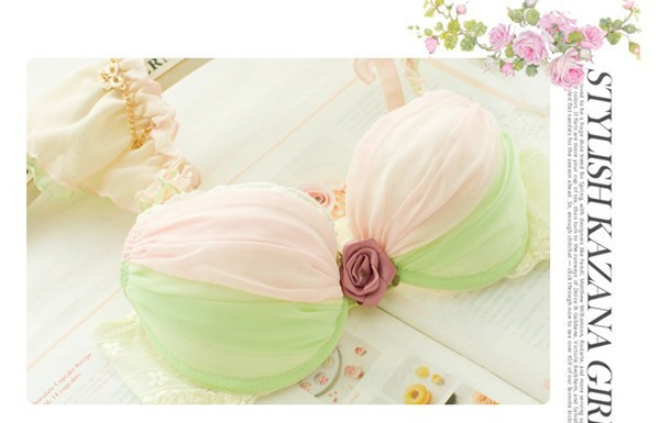 Dream Angels 14 New Women Push Up Bra Sets Breast Flower Lace Bra Women Underwear Sexy Lingerie Brand Bra & Brief Sets 6