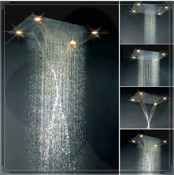 Luxury Rain Showers luxury shower hotels 600mm*800mm led shower big light shower