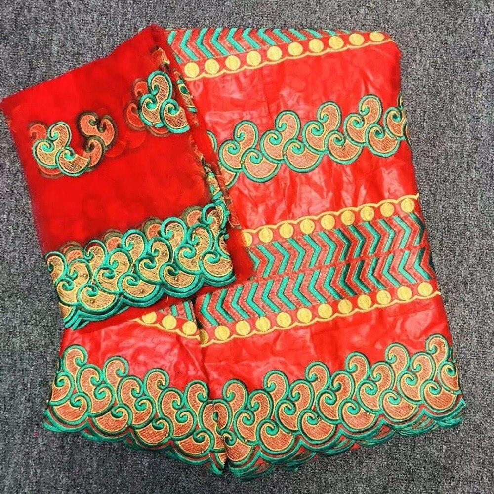 Tessuti di cotone stampa Africana cera di Ankara 6 Yards-Multi Colore