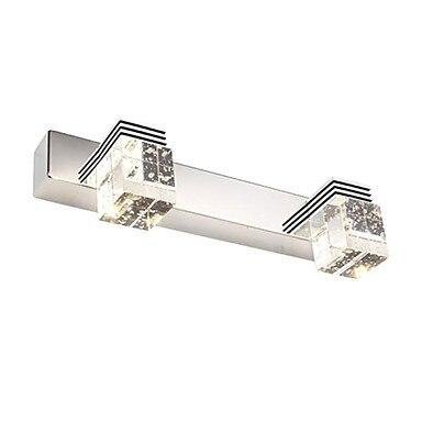 ФОТО 6W Modern LED Bathroom Lights Mirror Crystal 2-lights 220V