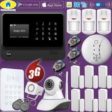 Golden Security WiFi Home Burglar Security 2G 3G GSM Alarm System Wireless Infrared Sensor RFID Keyboard Control Kit IP Camera
