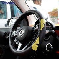 Smart 15 17 New Design 2 Door 4 Door PU Steering Wheel Cover Adorable Cartoon Pattern