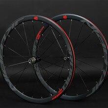 JKlapin 700C 4 герметичный подшипник колеса супер-светильник алюминиевый дорожный велосипед из сплава плоские спицы гоночные 40 мм диски с анти-курсором