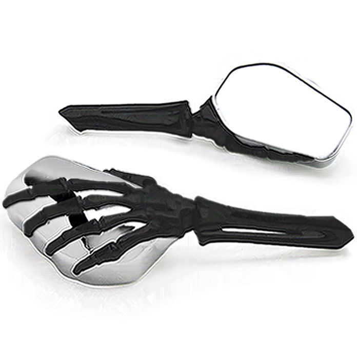 ФОТО HIGH QUALITY SKELETON HAND MOTORCYCLE MIRRORS CRUISER SPORT BIKE CHOPPER MOTORBIKE REAR VIEW