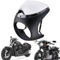 Universal 7 Headlight Handlebar Fairing Windshield Cafe Racer For Harley Dyna Sportster 1200 883 FLHT Bobber Touring