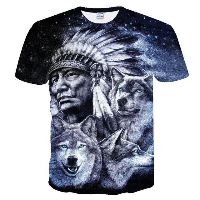 2019 new men 3D Wolf tshirt Funny t shirt Men Women t-shirt spring Summer Tee Short Sleeve Tops O-neck DropShip Eu size xxs-4xl 4