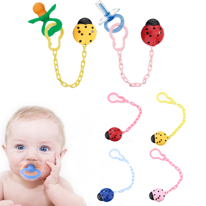 Baby Nipple Chain Infant Nipple Chain Newborn Nipple Chain Gifts Toddler Lovely Soother Cute 4 Colors Teether Creative Holder