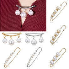 Rinhoo 2019 Trendy Vintage Big Beads Simulated Pearl Brooch Pins High Quality Dress Decoration Women Wedding Jewelry Gift