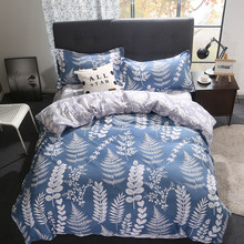 Creative Leaves Quilt Comforter Duvet Cover Bedding Set Adult Big Queen King Size Soft Cotton Bed Linens 24(China)