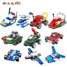 Building Blocks Mini City Car Series Educational Creative Transportation Figures Bricks Compatible With Brands Toys For Children
