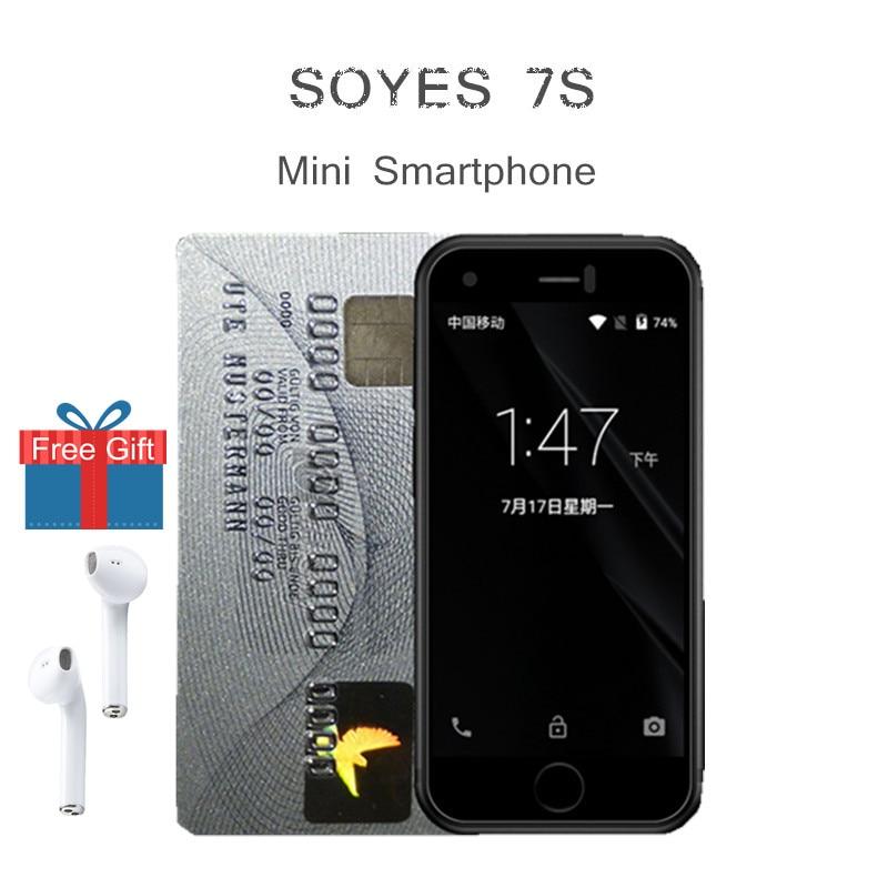 Original Soyes 7S Mini Android Smart Cell Phone High Resolution Screen Quan Core 1GB RAM 8GB ROM 5.0MP Dual SIM Phone screenshot