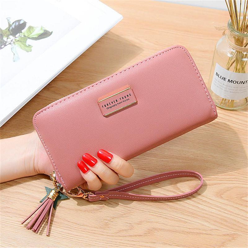 Women LeatherCactus Plant ColorfulWallet Large Capacity Zipper Travel Wristlet Bags Clutch Cellphone Bag