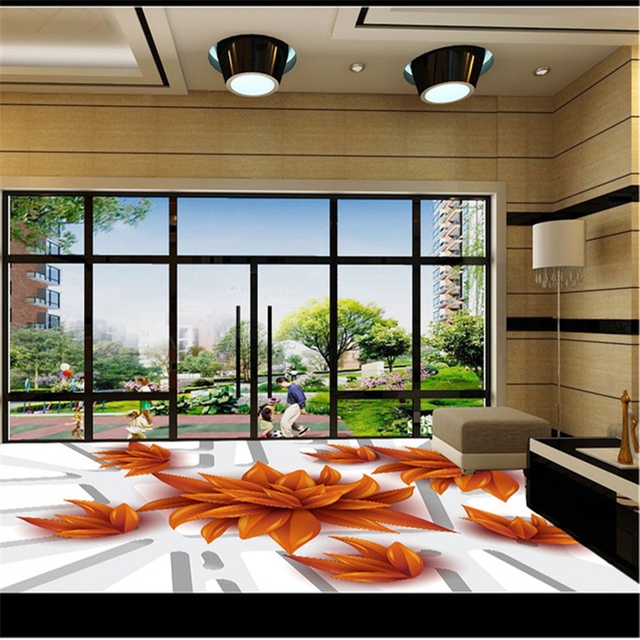 Beibehang Papel De Parede 3D Self Adhesive Wall Stickers Floor Flooring Painting Illusion