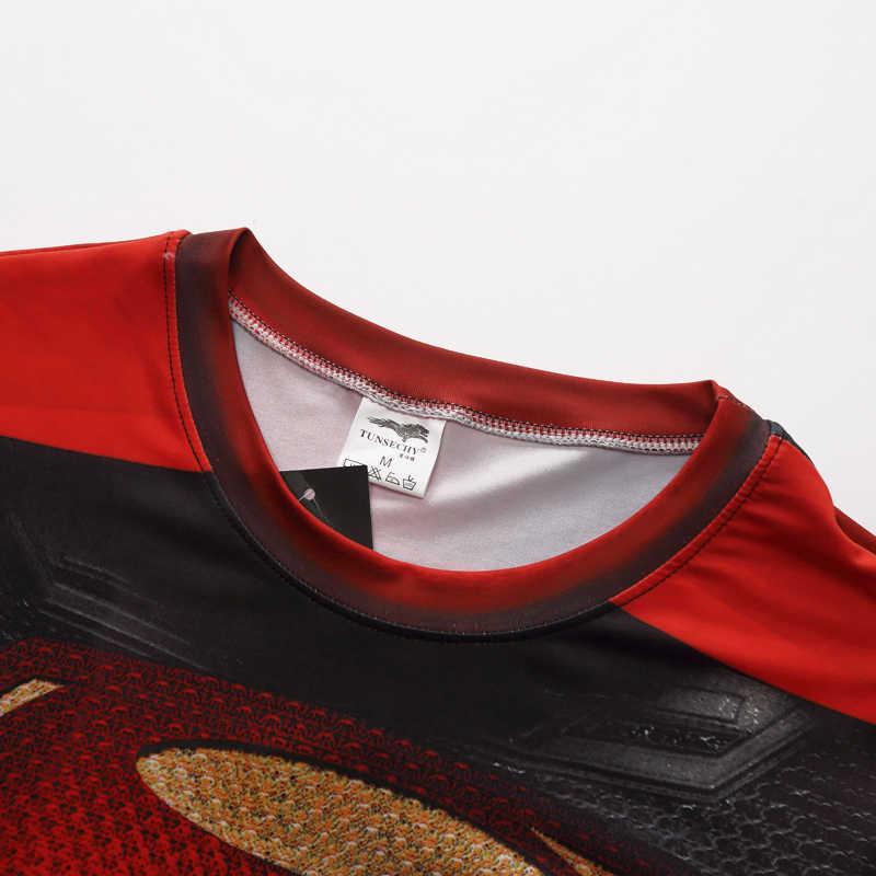 秋冬スーパーヒーロースーパーマン/バットマン/スパイダーマン男性ロングスリーブtシャツ圧縮タイツトップスtシャツ