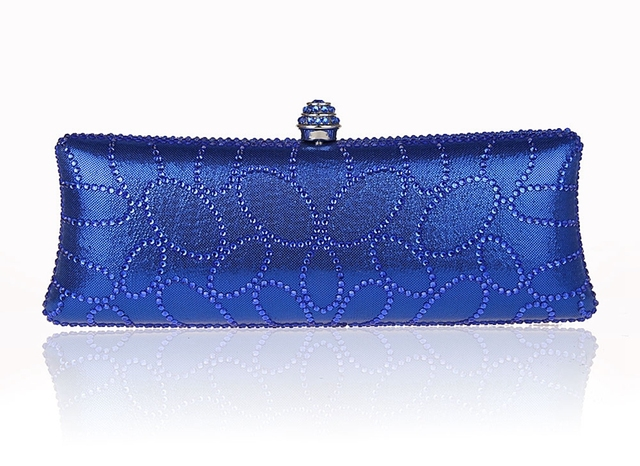 2016 Top Selling Blue Evening Bag Women's Banquet Handbag Clutch Birthday Gift Party Purse Makeup Bag Mujeres Bolso CR1802#