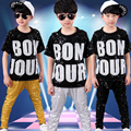 10pcs/lot Sequin Children Boys Girls Hip Hop Dance Wear Kids Pop Jazz Dancing Clothes Costumes for Party Stage Show Performance
