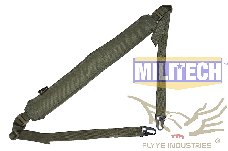 Military Spec Ranger Green RG Machine Gun Tactical Safety LMG Single Point Sling FLYYE FY-SL-S006 LMG Single Safety Sling tactical military 3 point rifle gun sling strap army green 235cm