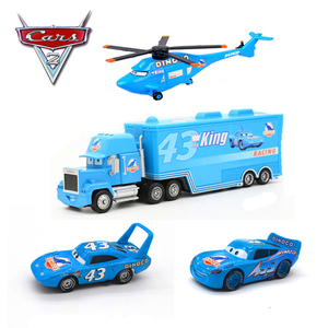 Disney Pixar Cars 2 Diecasts Car Model Lightning McQueen King Uncle Helicopter Dinosaur Oil Set Educational Oyuncak Toys For Boy(China)