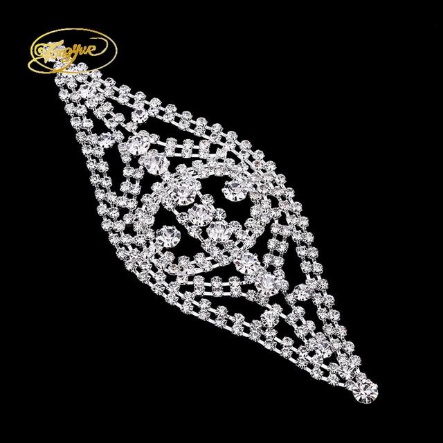 7,2*6,5 cm Rechteck Form Kristall Muster Legierung DIY Nähen Trim ...