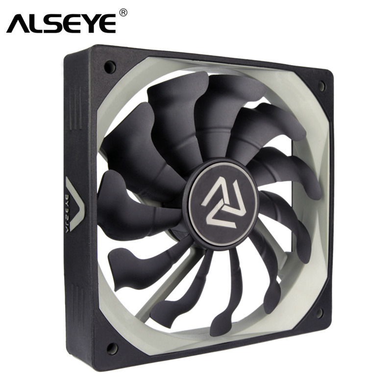ALSEYE S-<font><b>120</b></font> PC Fan 120mm High Air Flow Cooler 12V <font><b>3pin</b></font> Cooling Fans for PC Case, CPU Cooler, Water Cooling image
