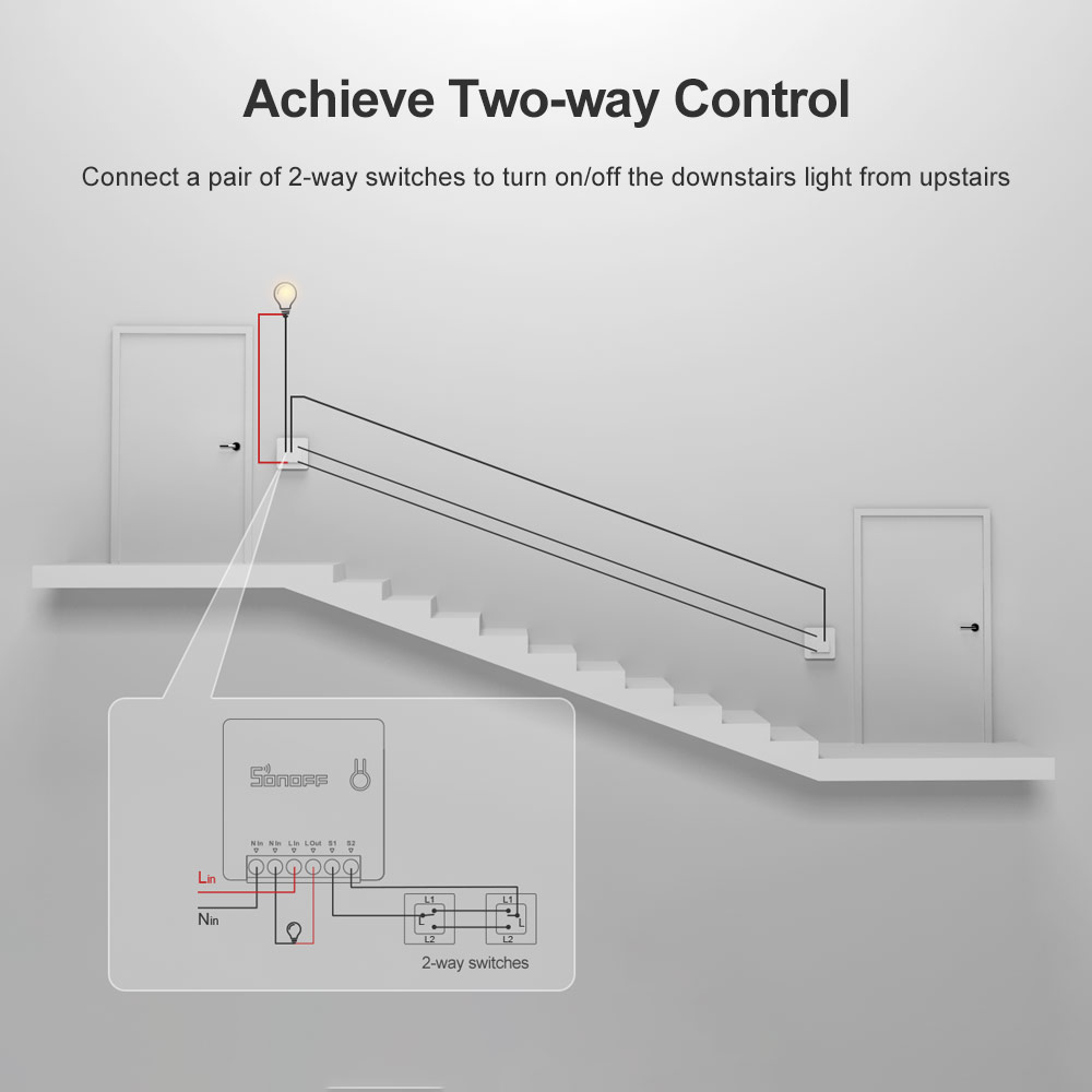 Cheap SONOFF MINI DIY WiFi Switch Two Way Smart Switch Small Body Timer Light Switch Remote Control Module Work With Alexa Itead 2