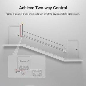 Image 2 - Дешевые SONOFF Мини DIY WiFi умный переключатель Малый корпус 10A 2 способа синхронизации света выключатели модуль дистанционного управления работает с Alexa Itead