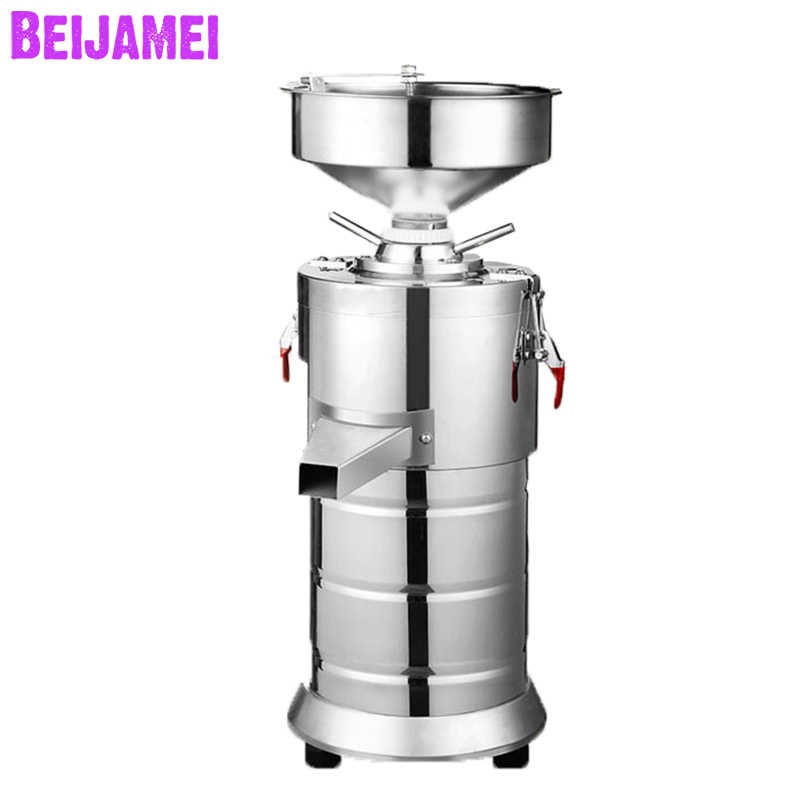 BEIJAMEI 15kg/h Commercial peanut butter machine colloid mill electric sesame almond paste maker