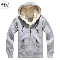 HanHent Sheep Velvet Thickened Men Winter Coats Thick Wool Warm Hoodie Sweatshirts 2016 New Fashion Men