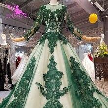 AIJINGYU White Bride Dress Train Gown Wedding Dresses