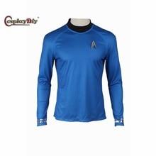 Cosplaydiy Star Trek Into Darkness Spock Costume Science Officer Leonard McCoy Bones Cosplay Shirt Adult Costume Custom Made