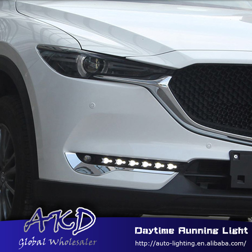AKD Car Styling for Mazda Cx-5 2017-2018 LED DRL for New Mazda CX-5 Turn Signal LED Running Light Fog Light Parking Accessories akd car styling for kia sportage r drl 2014 new sportager led drl korea design led running light fog light parking accessories