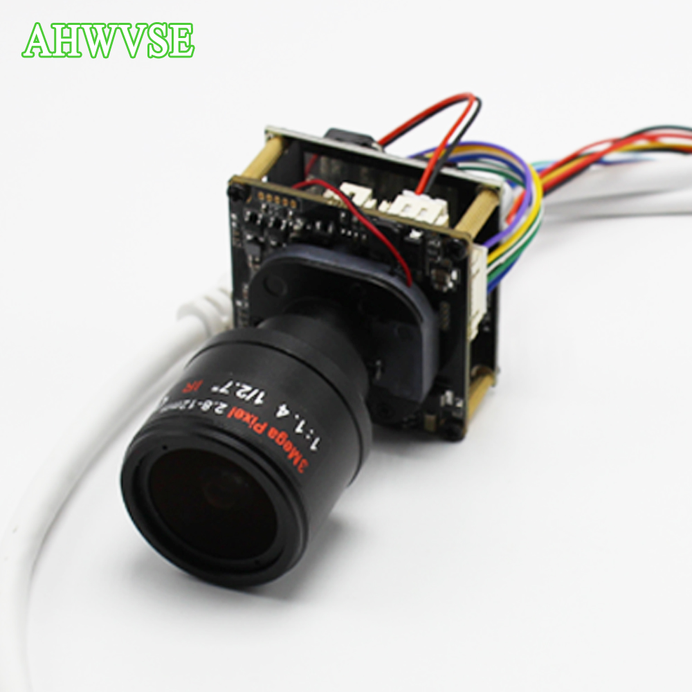 AHWVSE HD 1920*1080P 720P 960P HD POE IP camera module board 2.8-12mm Lens with LAN cable security camera ONVIF P2P