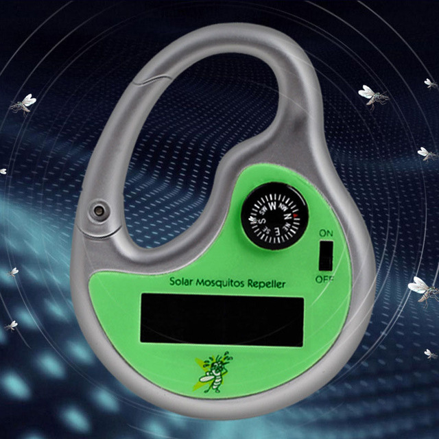 Portable Mosquito Insect Killer Insect Electronic Repeller Hook Type Solar Ultrasonic with Compass B2C Shop