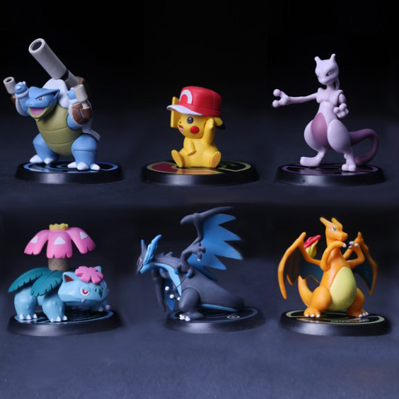 Mewtwo Charizard Venus Blastoise Pikachu anime cartoon action toy figures Collection model toy Car decoration toys KEN HU STORE 20cm canine patrol dog toys russian anime doll action figures car patrol puppy toy patrulla canina juguetes gift for child m134