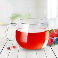 300ml Transparent Heat Resistant Glass Tea Cup Simple Glassware Coffee Cup