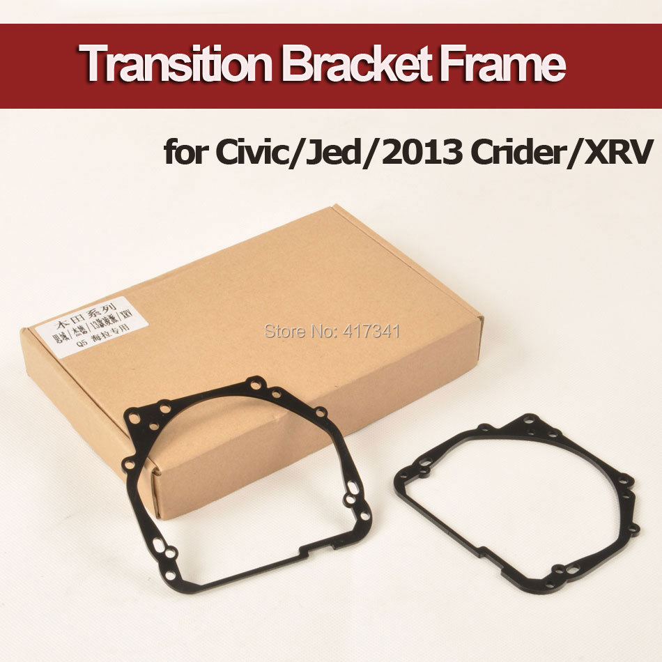 Headlight Retrofitting Transition Bracket Frame for Honda Civic Jed XRV to Install Q5 Koito HL G3/G5 Bi-xenon Projector Lens молдинги honda xrv