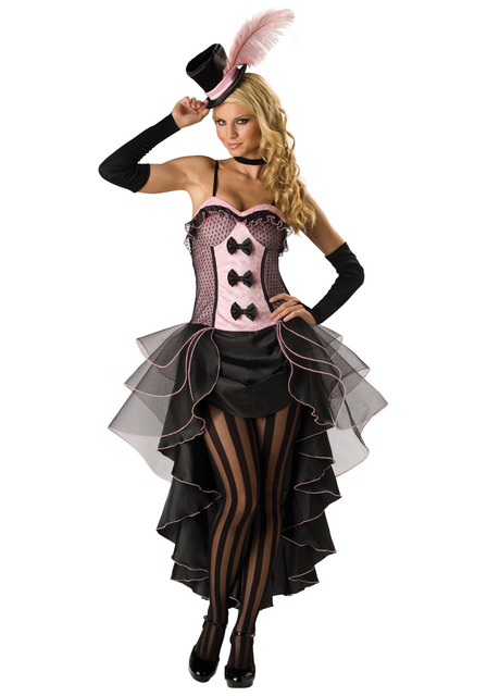 halloween cabaret burlesque can can dancer costume fantacy saloon cowgirl dress plus size m l xl 2xl - Can Can Dancer Halloween Costume