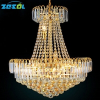 Official Store K9 Crystal French Empire Crystal Chandelier Chandeliers Lighting D600 H700MM