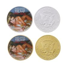 США первая леди Мелания Трамп вызов монета Сексуальная Модель памятная монета золото серебро