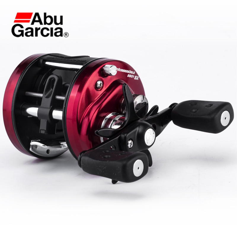 Abu Garcia AMB-SX AMBASSADEUR 3+1BB 5.3:1 Baitcasting Fishing Reel Lightweight Smooth German Bearings Fishing Line Wheel Tackle nunatak original 2017 baitcasting fishing reel t3 mx 1016sh 5 0kg 6 1bb 7 1 1 right hand casting fishing reels saltwater wheel