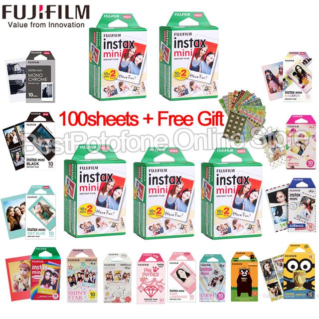 10-100 sheets Fuji Fujifilm instax mini 9 8 white Edge films Colour Fims for instax Instant Camera mini 8 9 7s Photo paper