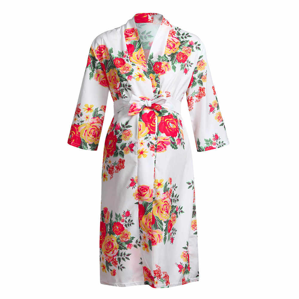 5b1a3422d51b4 ... New Women Maternity Nursing Nightgown Breastfeeding Nightshirt Floral  Sleepwear Dress Soft comfortable for daily wearing ...