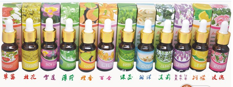 Brand New Water-soluble Oil Humidifier Oil Dropper Pipette Essential Oils for Aromatherapy Lavender Oil 12 Kinds of Fragrance 24