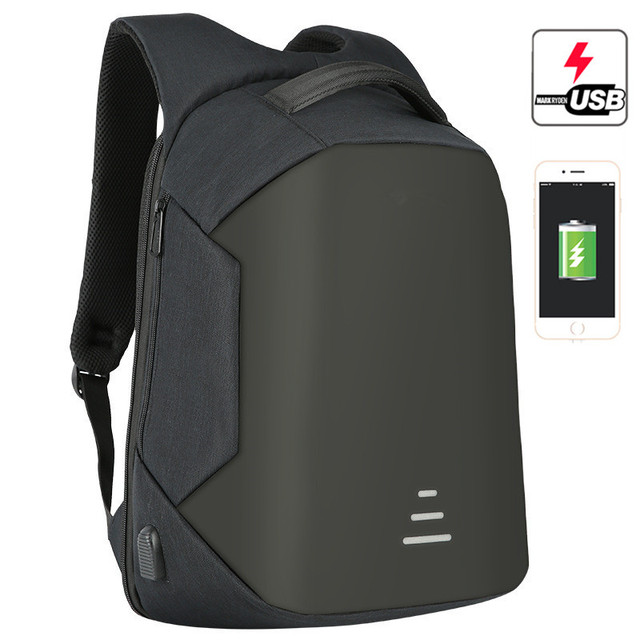 8c584e681e BAIBU Men Backpack Anti Theft 15 6 Laptop Backpack For Men Fashion Oxford  Waterproof USB Charging