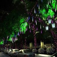 8pcs Set Multi Color 30CM 50CM Meteor Shower Rain Tubes AC220V Christmas String Light Wedding Party
