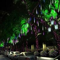8pcs Set Multi Color 50CM Meteor Shower Rain Tubes AC110 240V Christmas String Light Garden Wedding