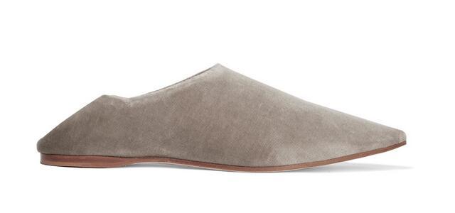 Couleur Bout Slip Femmes Pointu Plates Soild Drop Chaude Printemps 2017 Confortable Gris Shipping Chaussures Casual Populaires Mode On q4xp4g8w